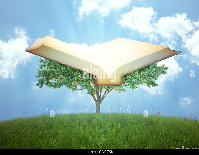 The tree of knowledge concept illustration - Stock Image