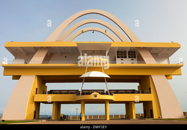 Arch at Independence Square, Accra, Ghana, Africa - Stock Image