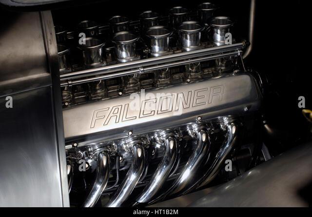 Ford Hot rod custom metal body 1934. Artist: Simon Clay. - Stock Image
