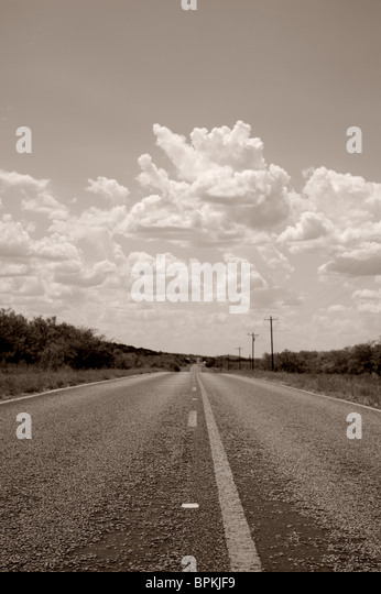 Country Road in Black and White - Stock-Bilder