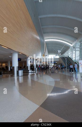 Baggage claim area of San Jose International Airport in California - Stock Image
