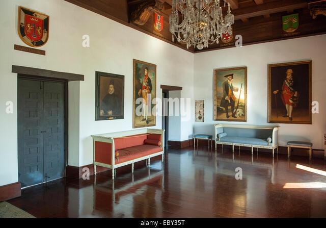 Dominikanische Republik, Santo Domingo, Zona Colonial, Calle las Damas, Museum in den Casas Reales, - Stock Image