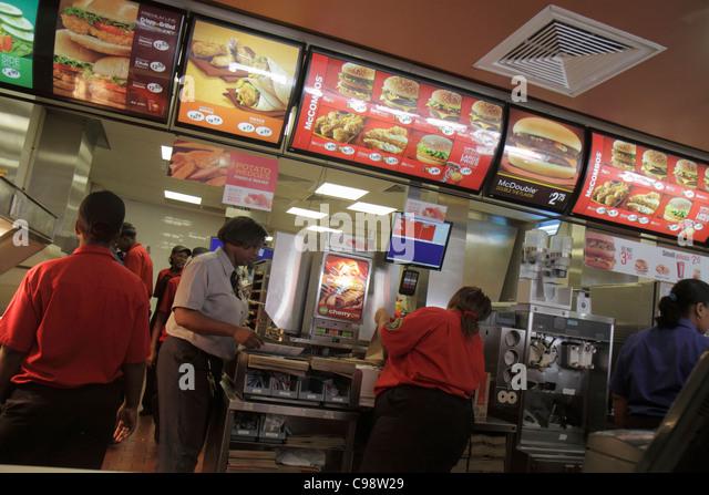 Curaçao Netherlands Antilles Dutch Willemstad Punda McDonald's Restaurant fast food American chain company - Stock Image
