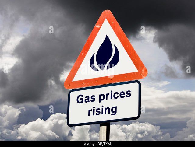 Gas energy prices, utility bills, rising - inflation or VAT concept - Stock Image