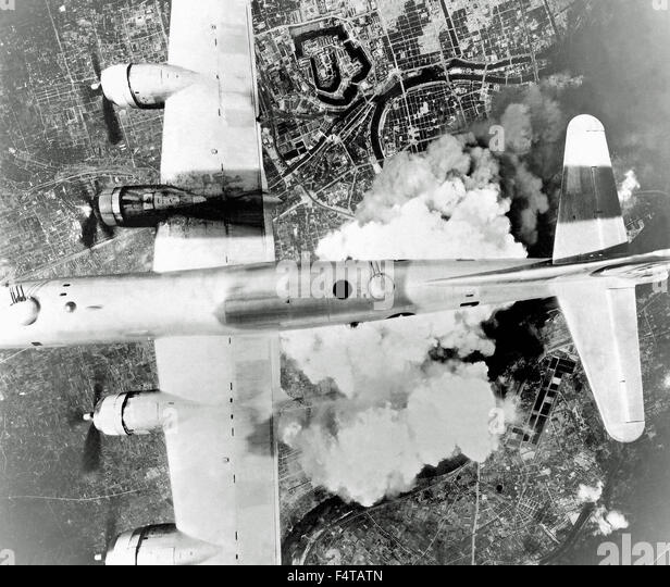 Bombing Japan Osaka - Stock Image