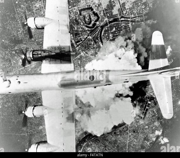 Bombing Japan Osaka - Stock Image