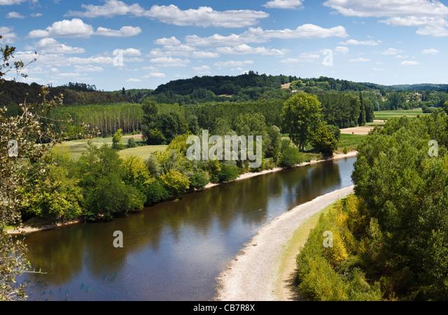 River Dordogne, France - Stock-Bilder
