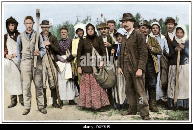 Group of typical Piney Woods people in New Jersey, circa 1900. - Stock Image