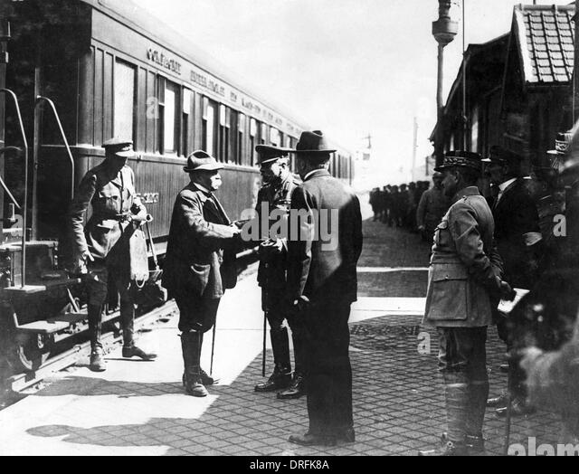 Sir Douglas Haig and Georges Clemenceau, France - Stock Image