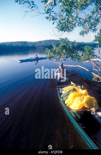 Florida Everglades National Park kayaking the Wilderness Waterway - Stock Image