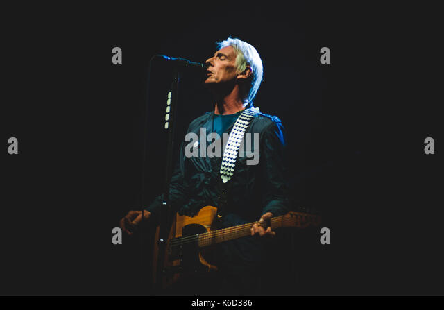 Genova, Italy. 11th Sep, 2017. Genova, 2017 September 11th: Paul Weller performing live on stage at the Porto Antico - Stock Image
