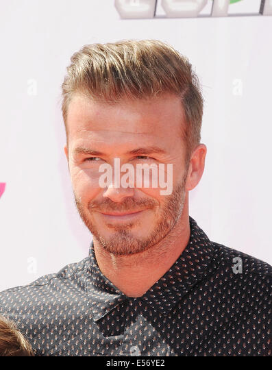 DAVID BECKHAM English footballer in July 2014. Photo Jeffrey Mayer - Stock Image