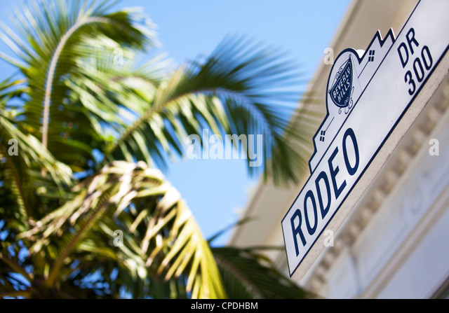 Rodeo Drive, Beverly Hills, Los Angeles, California, United States of America, North America - Stock-Bilder