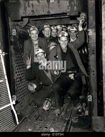 Feb. 01, 1974 - Miners Vote In Strike Ballot: Miners at the Snowdown Colliery in Kent yesterday cast their votes - Stock Image