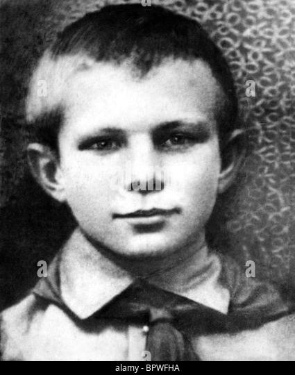 YURI GAGARIN AGE 10 RUSSIAN COSMONAUT 16 January 1944 - Stock-Bilder