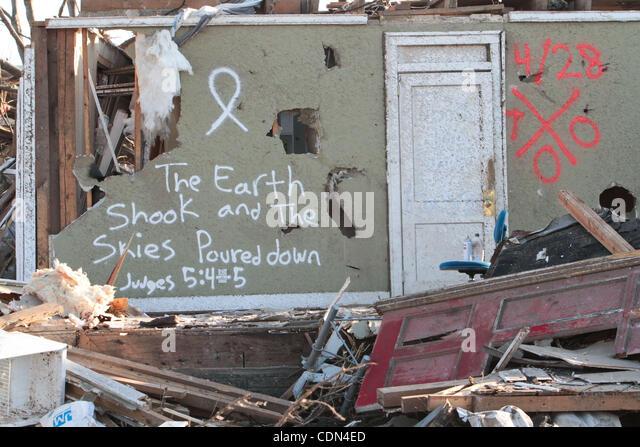 Apr 30, 2011 - Tuscaloosa, Alabama, U.S. - A scene of the damage in Tuscaloosa, Alabama. (Credit Image: © - Stock Image