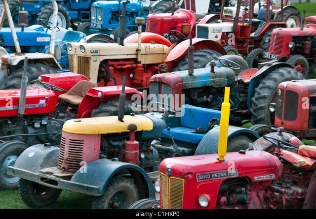 Vintage tractors - Stock Image