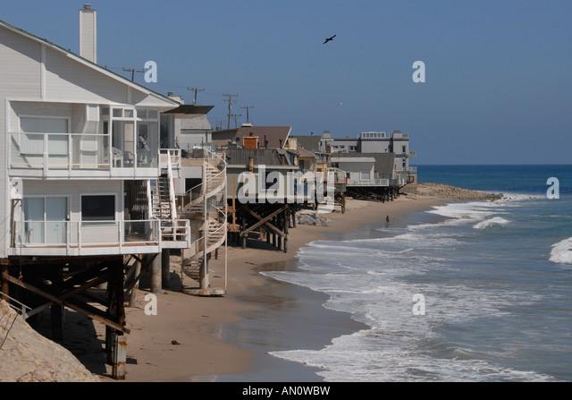 Malibu beach houses stock photos malibu beach houses for Malibu california beach houses