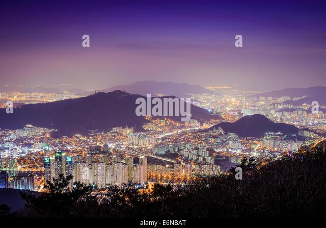 Busan, South Korea cityscape. - Stock Image