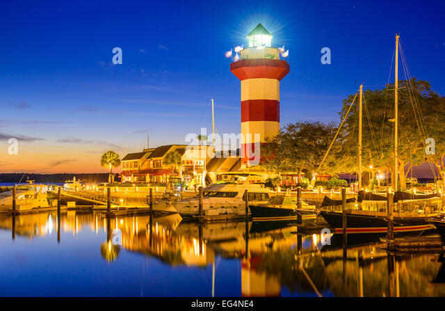 Hilton Head, South Carolina, USA lighthouse. - Stock Image