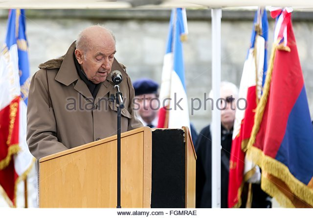 Ivry-sur-Seine, France. février 21st, 2016. FRANCE, Ivry-sur-Seine: Louis Cortot, a Compagnon de la Liberation - Stock Image