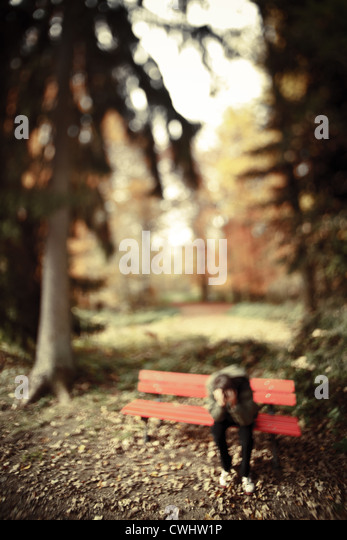 solitude,loneliness,alone,depression - Stock Image