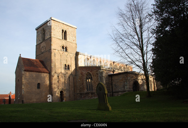 St Peter's Church, Barton Upon Humber, Lincolnshire, 10th Century Tower. - Stock-Bilder