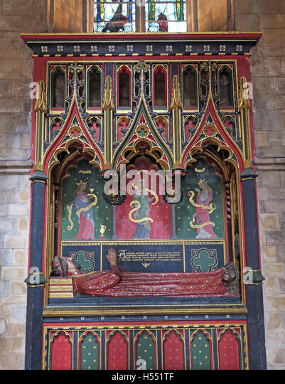 Tomb of John Gower,Southwark cathedral,London,England,UK - Stock Image