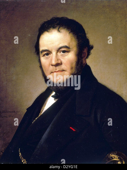 Marie-Henri Beyle, better known as Stendhal, 19th-century French writer. - Stock-Bilder