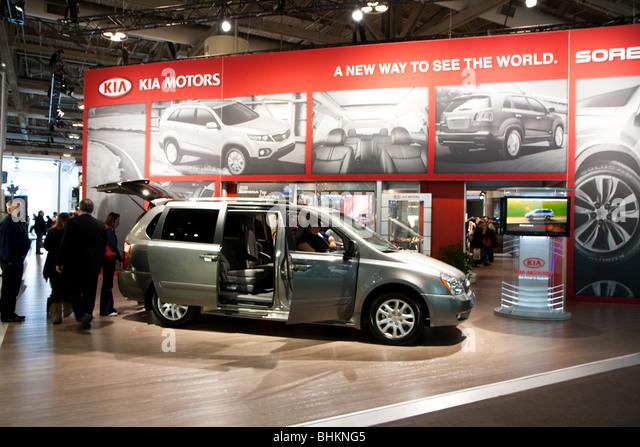 kia minivan autoshow - Stock Image