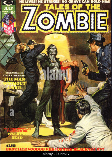 1970s USA Tales of the Zombies Comic/ Annual Cover - Stock Image
