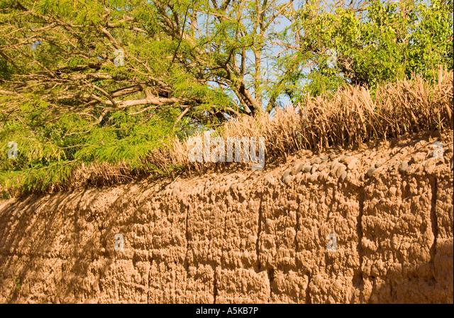 Chile San Pedro de Atacama mud fence - Stock Image