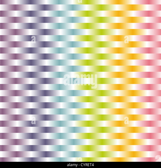 woven background in pastel rainbow color pattern - Stock Image