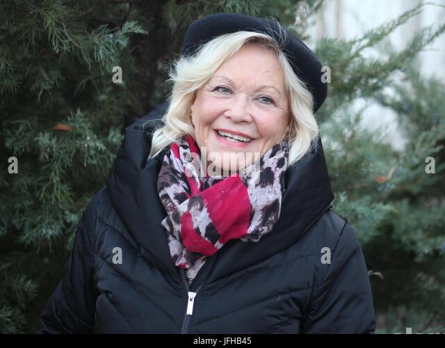 Actress Dorit Gäbler before their appearance in Schoenebeck / Salzelmen - Stock Image