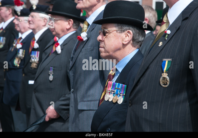Old soldiers on parade - Stock Image