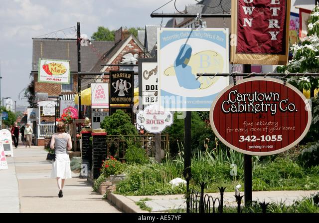 Richmond Virginia Carytown West Cary Street - Stock Image
