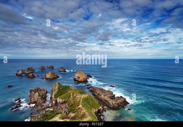 Nugget Point, Catlins Coast, New Zealand - Stock Image