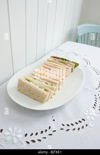 Selection of finger sandwiches - Stock Image