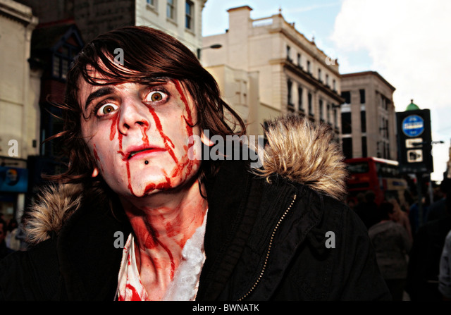 zombie march brighton - Stock Image