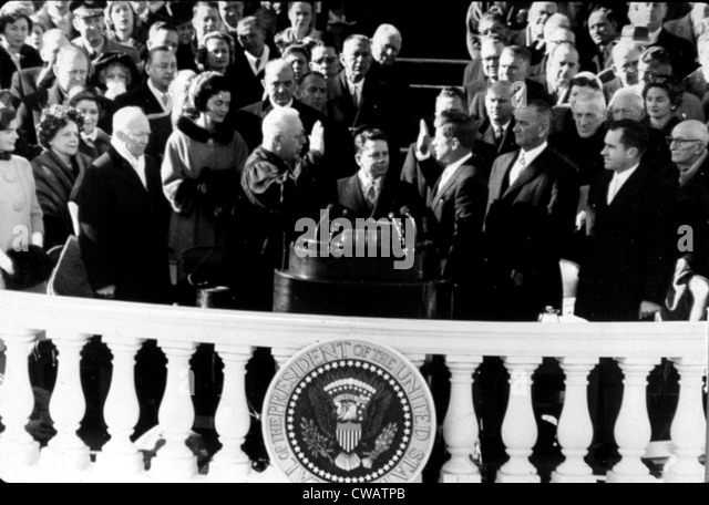 The inauguration of John F. Kennedy as president, 1961. Courtesy: CSU Archives / Everett Collection - Stock Image