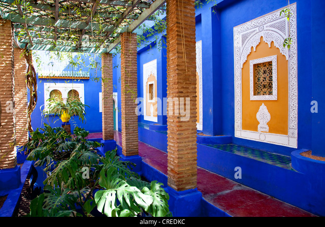 Majorelle garden stock photos majorelle garden stock for Jardin ysl marrakech