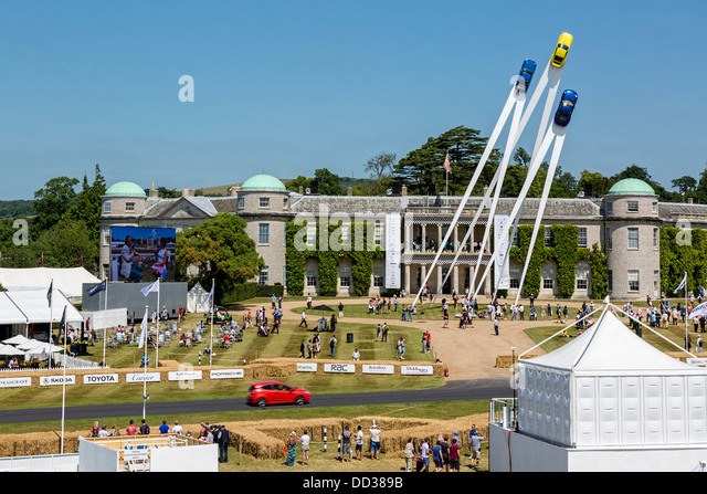 Trade Stands Goodwood Festival Speed : Display outside goodwood house stock photos