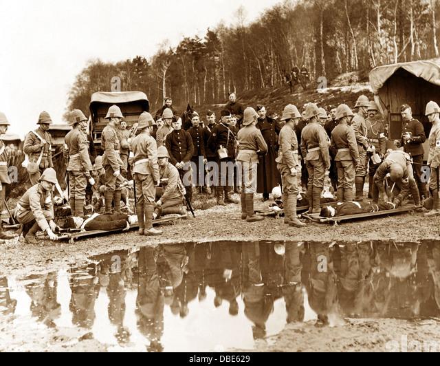 A Boer War Medical Receiving Station - Stock Image
