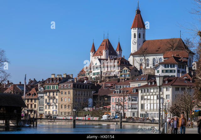 Castle Hill, Thun, Berne, Switzerland - Stock-Bilder