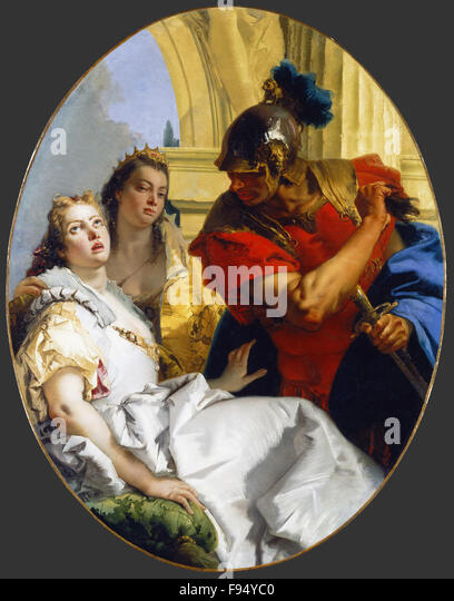 Giovanni Battista Tiepolo - Scene from Ancient History - Stock Image