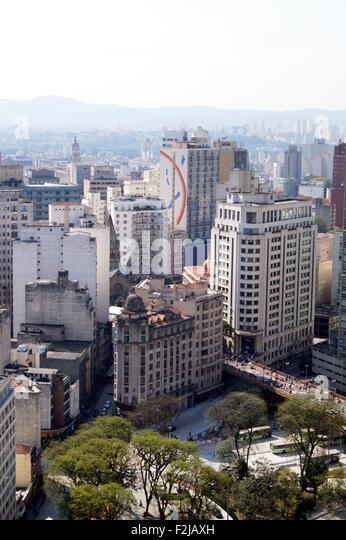 Buildings in Sao Paulo downtown - Stock Image