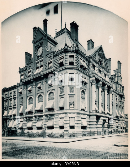 Union League Club-House, New York City, 1880s. - Stock Image