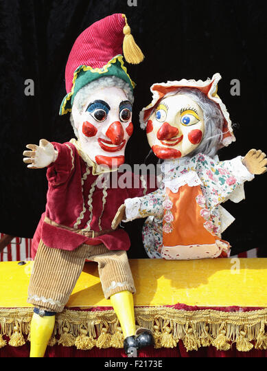 Entertainment, Childrens Punch and Judy from Planet Puppet. - Stock Image