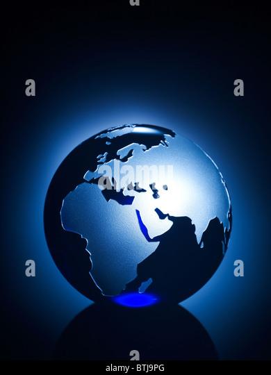 Glass globe vertical - Stock Image