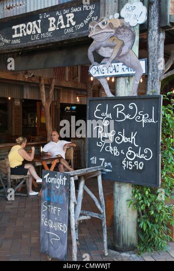 Iron Bar. Port Douglas, Queensland, Australia - Stock Image